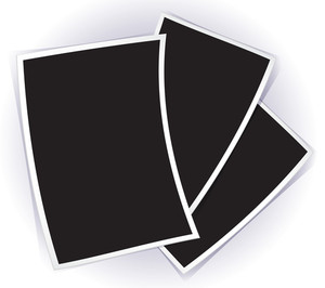 Vector Blank Photo Templates On White Background.