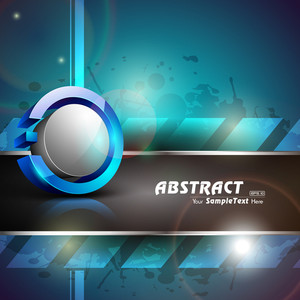 Vector Bllue Abstract Design