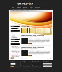 Vector Blog Website Design Template