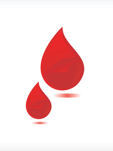 Vector Blood Drop Illustration