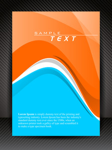 Vector Blue And Orange Flyer Or Cover Design