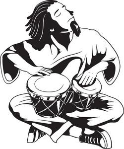 Vector Bongo Drummer