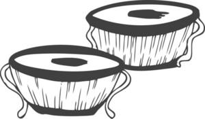 Vector Bongo Drums