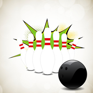 Vector Bowling Ball Ready To Hit Pins