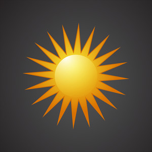 Vector Bright Sun Icon