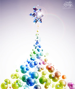 Vector Bubble Christmas Tree
