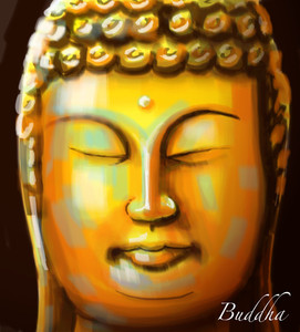 Vector Buddha Painting