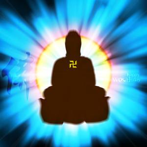 Vector Buddha With Shinny Backlight
