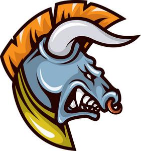 Vector Bull Mascot