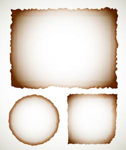 Vector Burnt Paper