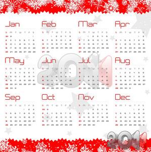 Vector Calendar Design 2011