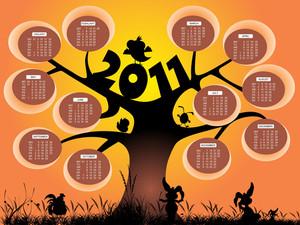 Vector Calendar For 2011