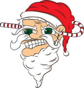 Vector Candy Santa