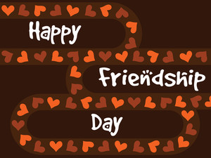 Vector Card For Friendship Day