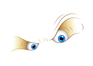 Vector Cartoon Angry Eyes
