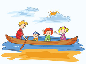 Vector Cartoon Background With Family