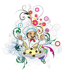Vector Cartoon Chef