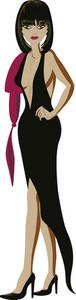 Vector Cartoon Girl