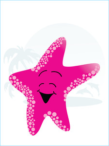 Vector Cartoon Starfish