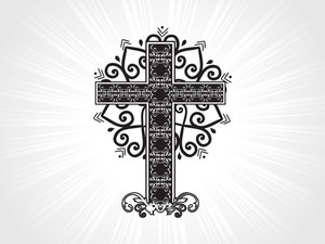 Vector Celtic Pattern Cross Illustration