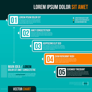Vector Chart Template With Five Options. Eps10.
