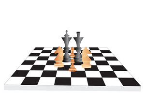 Vector Chess Board And Figures
