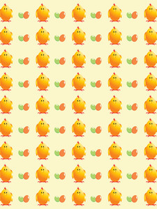 Vector Chicken Background