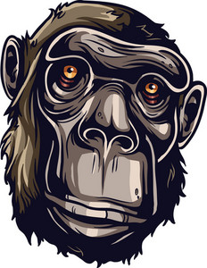 Vector Chimpanzee