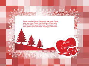 Vector Christmas Card For Your Love