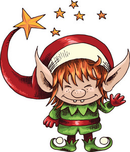 Vector Christmas Elf