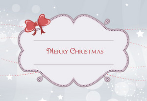 Vector Christmas Frame With Circles