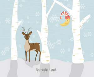 Vector Christmas Greeting Card