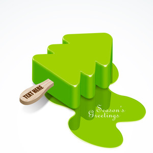 Vector Christmas Tree Ice Candy