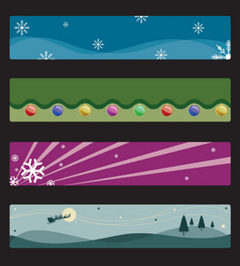 Vector Christmas Web Banners