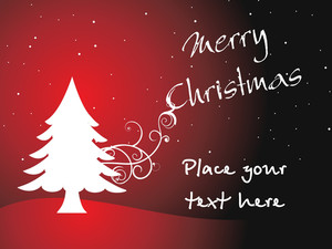 Vector Christmas With Place For Text