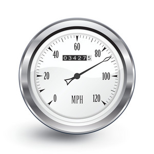 Vector Chrome Speedometer