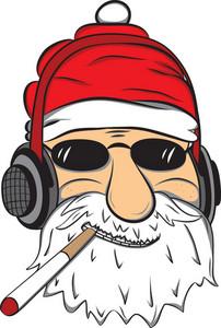 Vector Cigar Santa