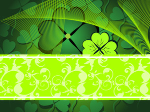 Vector Clover Pattern Background With Wave