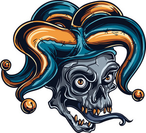 Vector Clown Skull