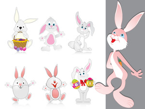 Vector Collection Of Cute Rabbit