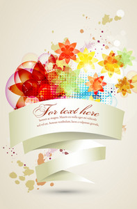 Vector Colorful Abstract Banner