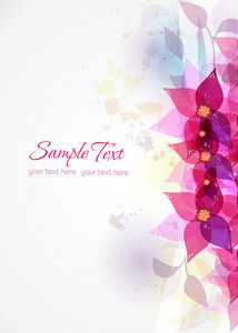 Vector Colorful Abstract Floral With Splash
