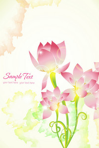 Vector Colorful Abstract Floral