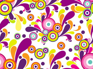 Vector Colorful Artwork Pattern Wallpaper