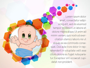Vector Colorful Background With Baby