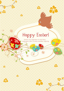 Vector Colorful Background With Eggs