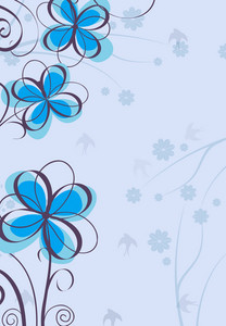 Vector Colorful Background With Floral