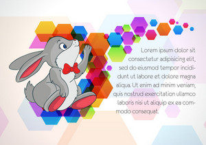 Vector Colorful Background With Rabbit