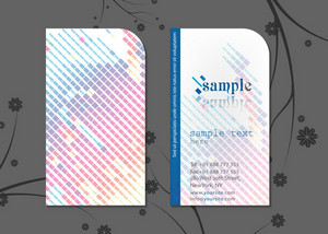 Vector Colorful Business Card