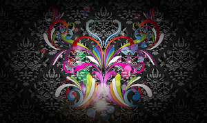Vector Colorful Butterfly Made Of Floral